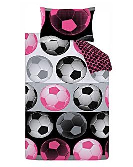 Neon Football Duvet Cover Set