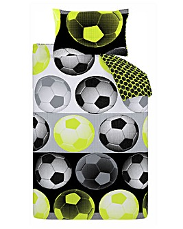 Neon Football Duvet Cover Set