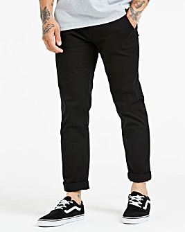 Black Stretch Tapered Chino 33in