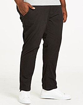 Black Stretch Tapered Chino 31 Inch