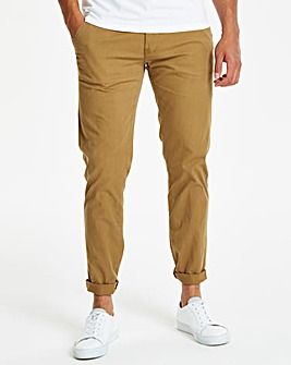 Tobacco Stretch Tapered Chino 31in