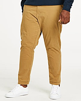 CapsuleTobacco Stretch Tapered Chino 33In Leg Length