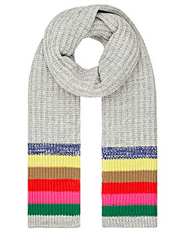 Accessorize Rainbow Stripe Scarf