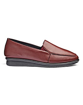 Cushion Walk Leather Slip On Shoes Wide E Fit