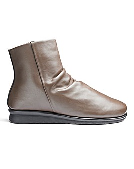 Cushion Walk Leather Ankle Boots Wide E Fit