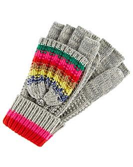 Accessorize Rainbow Stripe Capped Glove