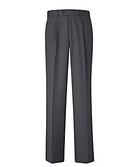 Premier Man Pleated Trousers With Elasticated Side Tunnel Waistband 29in