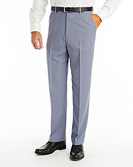 Premier Man High Waisted Trousers With Side Elasticated Waist 29in