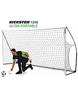Kickster Academy 12 x 6ft Quick Assembly Football Goal