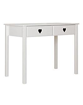Mia 2 Drawer Desk - White