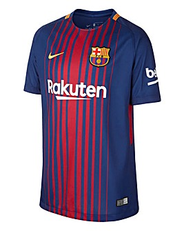 Nike Older Boys Barcelona Football Club Stadium Jersey