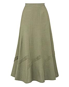 Linen-Mix Skirt 25in
