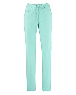 Coloured Straight Leg Jeans Regular