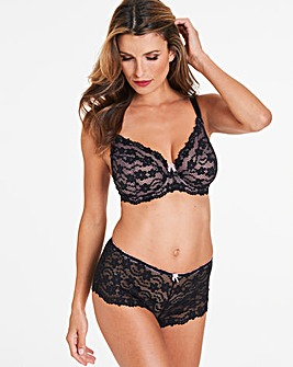 Pretty Secrets Daisy Black/Pink Lace Full Cup Wired Bra