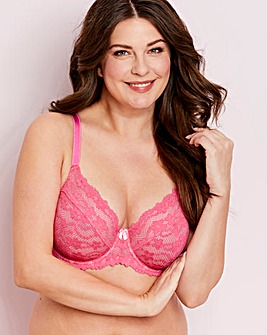 b89a21193d1 Daisy Lace Pink Full Cup Wired Bra. NEW