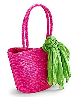 Beach Bag With Scarf