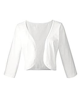 Black OR White 3/4 Sleeve Jersey Shrug
