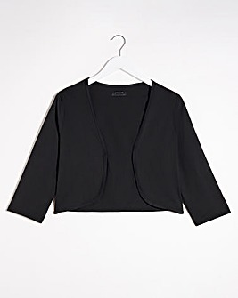 Black OR White 3/4 Sleeve Jersey Shrug