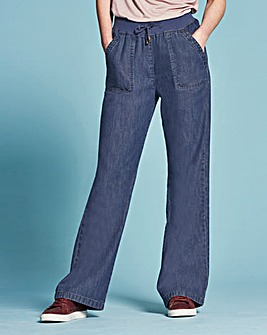 Slouch Jeans with Tie Waist Long Length