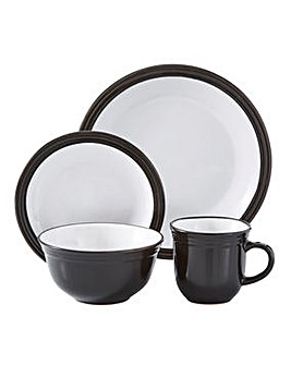 Camden 16 Piece Dinner Set Black