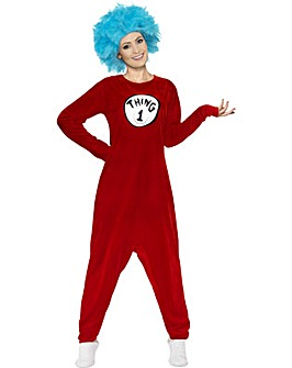 Dr Seuss Adult Thing 1 / Thing 2 Costume