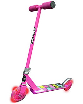Zinc Non Folding Pink Light Up Scooter