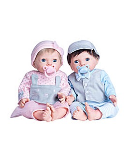 Tiny Treasures Twin Babies Bumper Set