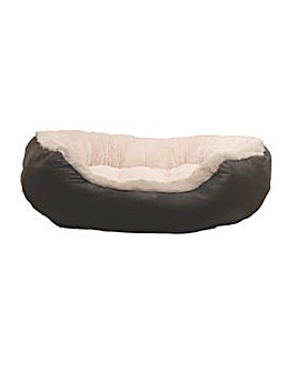 """40 Winks Faux Leather Oval Bed 25"""""""