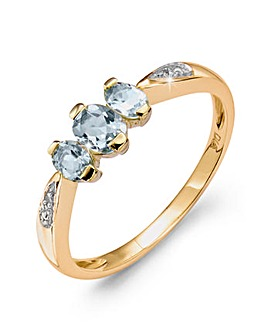 9 Carat Gold Birthstone Ring