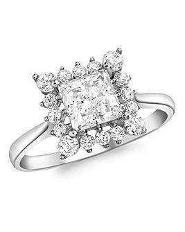 9 Carat White Gold Cubic Zirconia Ring