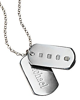 Personalised Sterling Silver Dog-Tag Pendant