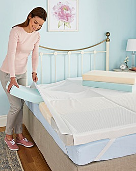 Zoned Jigsaw Memory Foam Mattress Topper