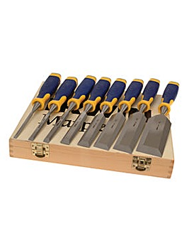 Irwin Marples 8 Piece Chisel Set in Wooden Box
