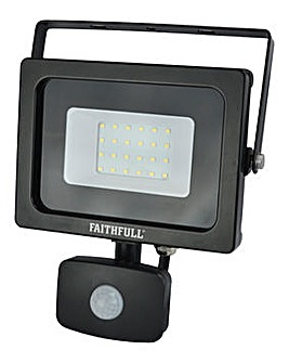 Faithfull 10W Security Light C/W Pir Lum 1600