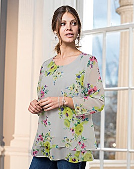 Together Floral Print Layered Blouse
