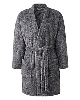 Capsule Charcoal Fleece Dressing Gown