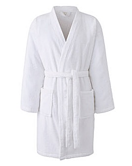 Capsule WhiteTowelling Dressing Gown