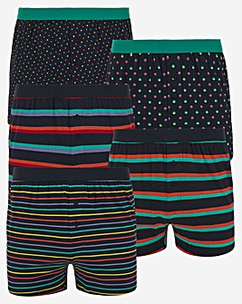 Pack of 5 Spots and Stripes Loose Boxers