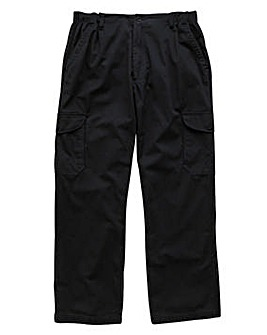 Premier Man Side Elasticated Lightweight Cargo Trousers 27in