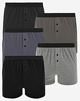 Pack of 5 Grey Mix Loose Boxers