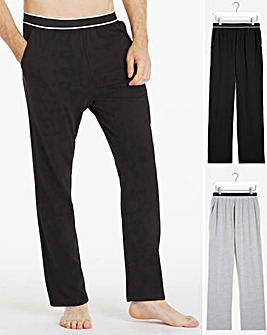 Twin Pack Elastic Waist Lounge Pants