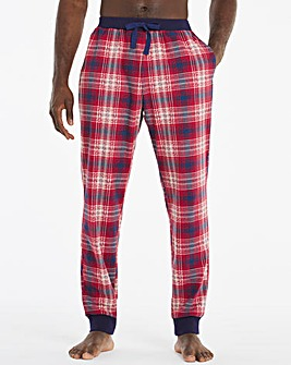 Red Check Cuffed Lounge Pants