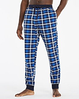Blue Check Cuffed Lounge Pants