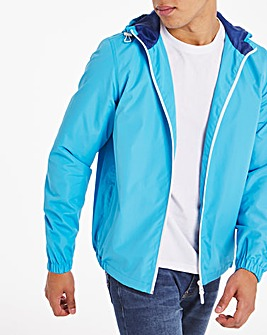 Blue Hooded Jacket
