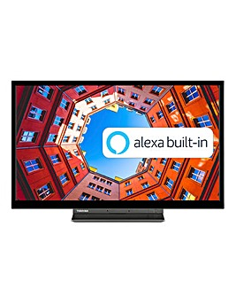 Toshiba 24WK3A63DB 24inch HD Ready Smart TV with Freeview Play, Alexa Bult-in