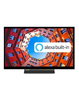 Toshiba 32WK3A63DB 24inch HD Ready Smart TV with Freeview Play, Alexa Bult-in