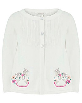 Monsoon Baby Amy Rocking Horse Cardigan