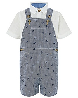 Monsoon Anthony Anchor Dungaree Set