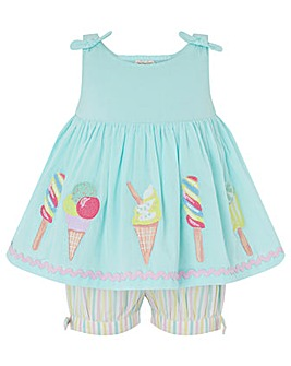 Monsoon Baby Isi Ice Cream Short Set