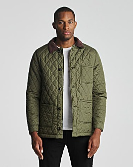 Olive 3 Pocket Recycled Polyester Quilted Worker Jacket